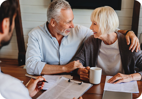 Older couple working on estate plan